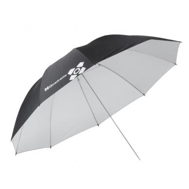Quadralite atspindintys-balti skėčiai