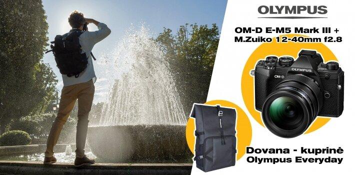 Oly E-M5III + Backpack