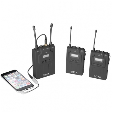 BOYA BY-WM8 UHF Dual-Channel Wireless Microphone System 2