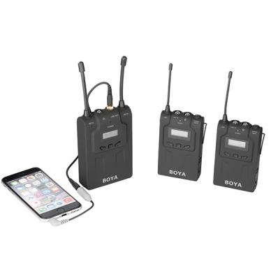 BOYA BY-WM8 UHF Dual-Channel Wireless Microphone System 2
