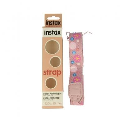 Dirželis ant kaklo INSTAX rožinis su žvaigždutėm 3