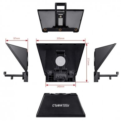 FeelWorld TP2 Portable Teleprompter 4