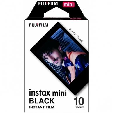 FujiFilm instax mini BLACK FRAME 10 lapelių