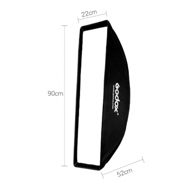 Godox Softbox 22x90cm + Grid 3