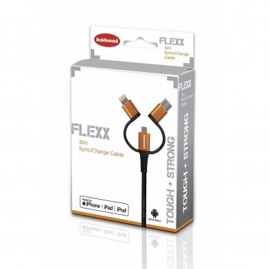 HÄHNEL Flexx 3in1 Sync/Charge Cable 4