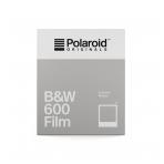 Polaroid Originals 600 B&W momentinės plokštelės baltu rėmeliu