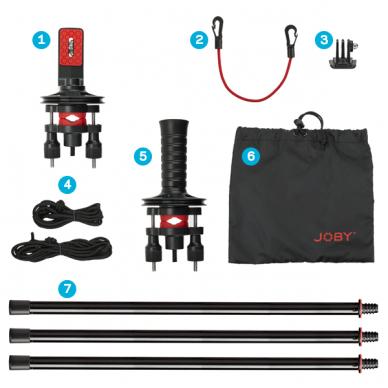 Joby Action Jib Kit & Pole Black/Red 2
