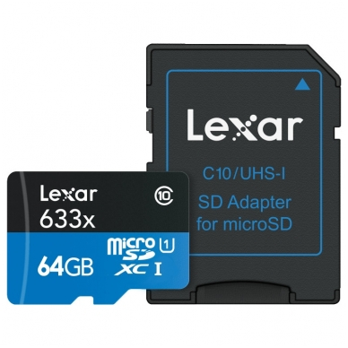 Lexar microSDHC/SDXC 633x 95mb/s 3