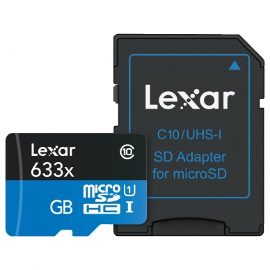 Lexar microSDHC/SDXC 633x 95mb/s