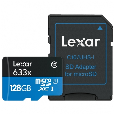 Lexar microSDHC/SDXC 633x 95mb/s 4