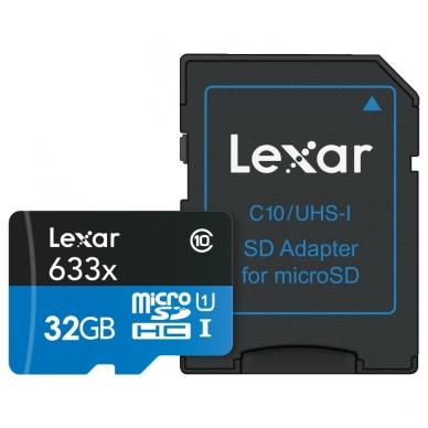 Lexar microSDHC/SDXC 633x 95mb/s 2