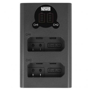 Newell DL-USB-C EN-EL14 baterijai