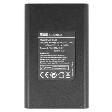 Newell DL-USB-C EN-EL14 baterijai 2
