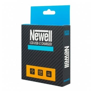 Newell LCD USB-C 2 kanalų kroviklis DMW-BLF19/E baterijai 2