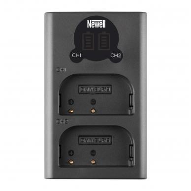 Newell LCD USB-C 2 kanalų kroviklis DMW-BLF19/E baterijai