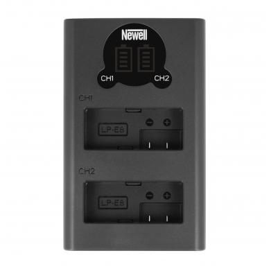 Newell LCD USB-C 2 kanalų kroviklis LP-E8 baterijai