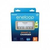 Panasonic Eneloop 8 baterijų kroviklis BQ-CC63
