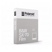 Polaroid Originals SX-70 B&W momentinės plokštelės baltu rėmeliu