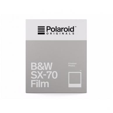 Polaroid Originals SX-70 B&W momentinės plokštelės baltu rėmeliu 2