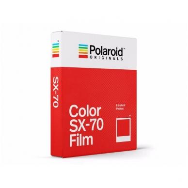 Polaroid Originals SX-70 Color momentinės plokštelės baltu rėmeliu