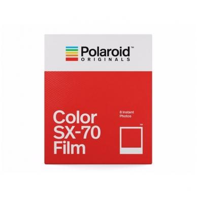 Polaroid Originals SX-70 Color momentinės plokštelės baltu rėmeliu 2