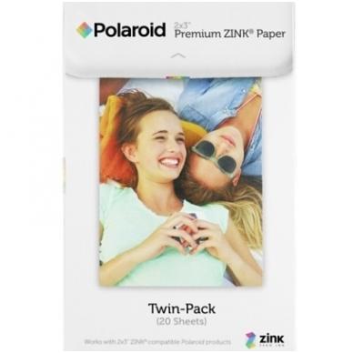 """Polaroid ZINK Zero Ink Paper 2x3"""" 20 lapelių"""