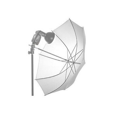 Quadralite Transparent White Umbrella 3