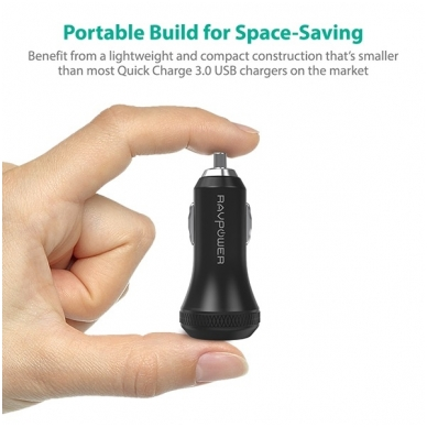 RAVPower Quick Charge 3.0 Car Charger 40W 3A 2