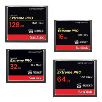 SanDisk CompactFlash 32GB Extreme Pro CF 160MB/s 3