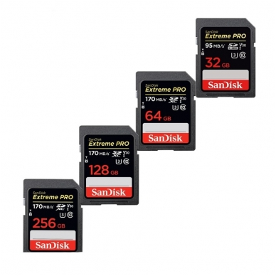 SanDisk Extreme Pro SDXC 170mb/s V30 U3 2