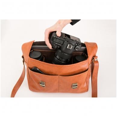 Zuka Straps Messenger Leather Camera Bag 7