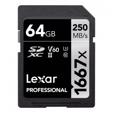 Lexar PRO 1667X SDXC UHS-II U3 2