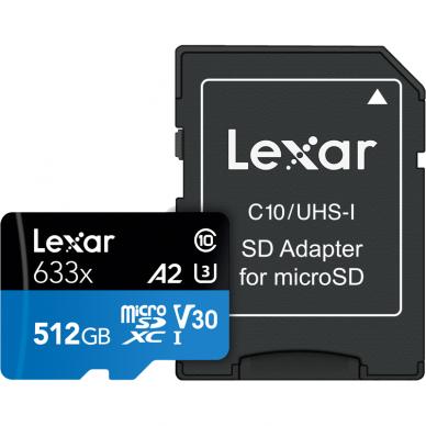 Lexar microSDHC/SDXC 633x 95mb/s 6