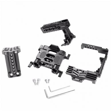SmallRig 2067 HALF CAGE Kit w/ Batt. Grip 7