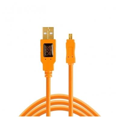 TetherPro USB 2.0 to Mini-B 8-Pin kabelis
