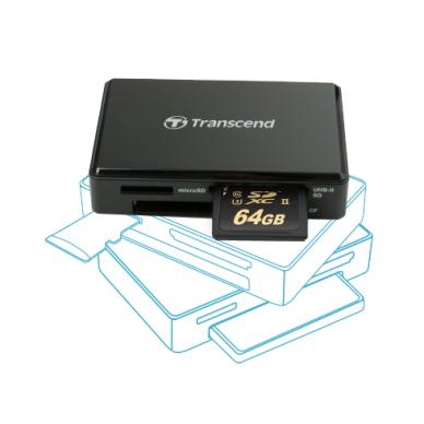 Transcend RDF9 - All in One USB 3.1 kortelių skaitytuvas 3