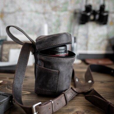 Zuka Straps Leather Lens Pouch